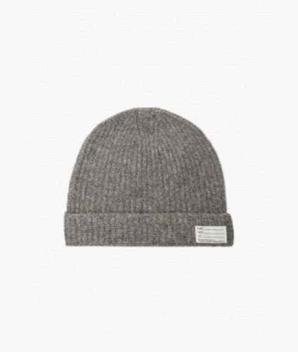 Knit Wool Beanie in Grey